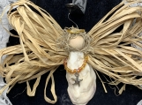 Oyster Shell Angel with Necklace Ornament