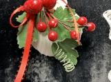 Red Berries Seashell Ornament