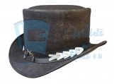 Vintage Style Leather Top Hat