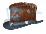El Dorado Hair Hide Crown Leather Top Hat