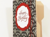 Birthday Gift Card Holder File Folder Card - Red