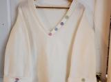 Ivory Fleece Tunic