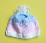 Baby Girl Hand-Knitted Hat (multi-colored)