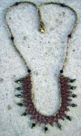 Netted Beaded Necklace Very Chic