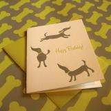 Happy Dogs Birthday Card (Single Card, Letterpressed)