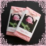 4 bars light rose scented goats milk  soap