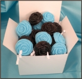 Blueberries and Chocolate, 20 Rose shaped soaps in gift box