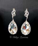 Bridal Chandelier Swarovski Crystal Cubic Zirconia Drop Earrings
