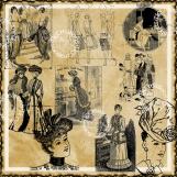 Vintage Fashions 20 Piece Image Set