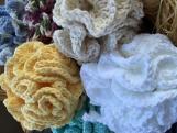 Eco-friendly Bath Pouf, Cotton Bath Pouf, Crochet Bath Pouf,