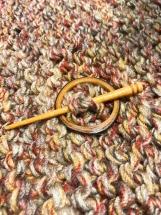 Wooden Shawl Pin,  Maple Shawl Pin, Shawl Pin