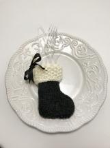 Christmas Utensil Holders, Set of 4, Hand Knit Christmas  Decor