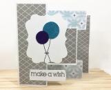 Balloons Tri-Shutter Birthday Card