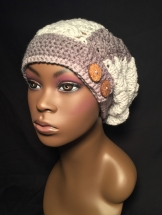 Sweet Roll Slouch Hat with Side Buttons