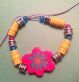 Silver, Yellow, Pink and Blue Jazz Bracelet