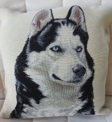 Husky Dog Tapestry Cushion Cover