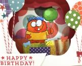 Monster Birthday Shadow Box Card 3D