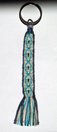 Turquoise and navy blues keychain