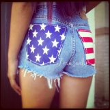 American flag shorts Levis High waist jean shorts cut off shorts