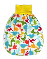 """COMFY Baby pouch, sleeping bag, swaddle bag """"Happy Dinosaurs"""""""