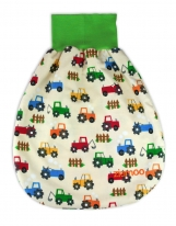 """COMFY Baby pouch, sleeping bag, swaddle bag """"Rainbow Tractors"""""""