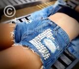 Levis high waist studded shorts, high waisted cut off jean short