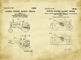 Case Tractor Patent Art Duo-U.S. Shipping Included
