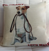 Hand Made I'm Ready Lets Walk Tapestry Cushion Cover