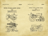 John Deere Tractor Patent Art Duo-U.S. Shipping Included