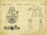 Star Wars Patent Art Duo-U.S. Shipping Included