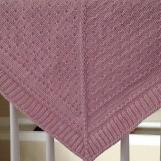 Very warm Aran weight 100 % merino wool shawl, broach closure