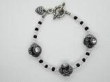 Black and Pink Kasmiri Bracelet