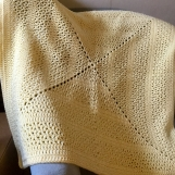 Handmade blanket -yellow