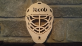 Personalized Wooden Hockey Goalie Mask