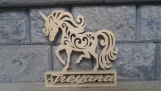 Personalized Wooden Unicorn