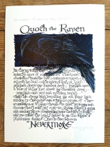 "Quoth the Raven ""Nevermore"" Print"