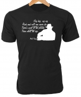 Hey hey, My my. Rock and roll will never die. Neil Young T-Shirt