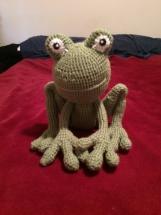 Crocheted Amigurumi Frog