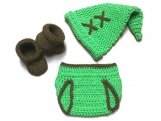 Link Diaper Set Costume Crochet Legend of Zelda Newborn Outfit