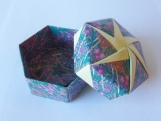 Origami Box - Green / Yellow