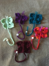 Set of 5, butterfly bookmarks