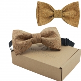 Engraved Large Butterfly Cork Bow Tie  - Plain Cork Bits (B0312)