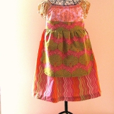 She's Sew Wavy Easter Dress in Peasant Style