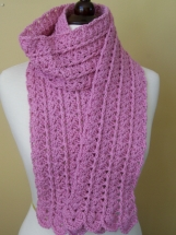 Delicate & Dainty Pink Shells Crocheted Scarf