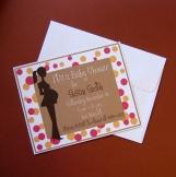 Personalized Polka Dot Baby Shower Invitations