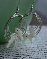 Petit flock earrings