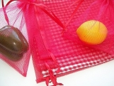 Reusable Produce Vegetable Bulk Bags 7 Pieces in Red