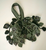 PDF pattern Crochet leaf scarflette or necklace No 1