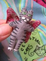 Plush Celestial Cat Tiny Mini Cat Doll Totally Flealess Pin