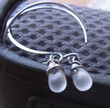 Tiny Frosted Drops earrings